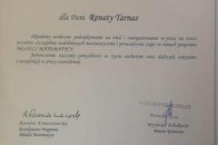podziekowanie-R.-Tarnas